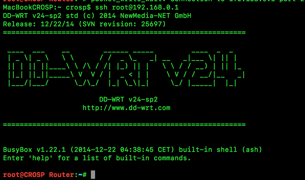 DD-WRT SSH Management