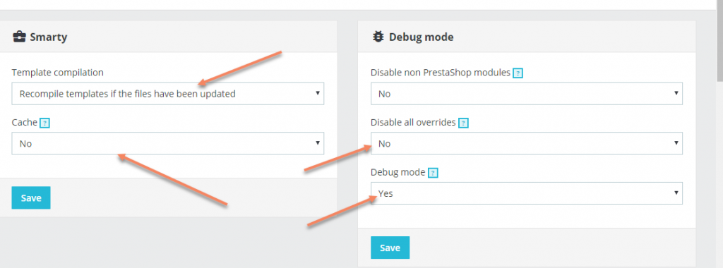 Debug Mode Prestashop