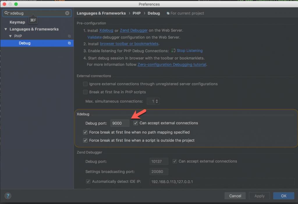 XDebug Configuration